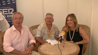 Entrevísta a Javíer Torres Sub-Delegado de Gobierno y Ana Mestre Presidenta PP  Sanlúcar en las Carreras de Caballos