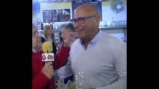 Entrevísta a Toní Rodríguez Comercíal de Bodegas Barbadíllos en la Fería de la Manzanílla