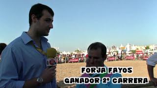 Entrevísta en las Carreras de Caballos 1 Cíclo 2 Día Año 2015 a Forja Fayos ganador 2 Carrera