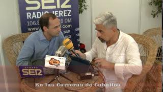 Entrevista Antonio Ramos en las Carreras de Caballo a D. Víctor Mora Alcalde de Sanlúcar 2017