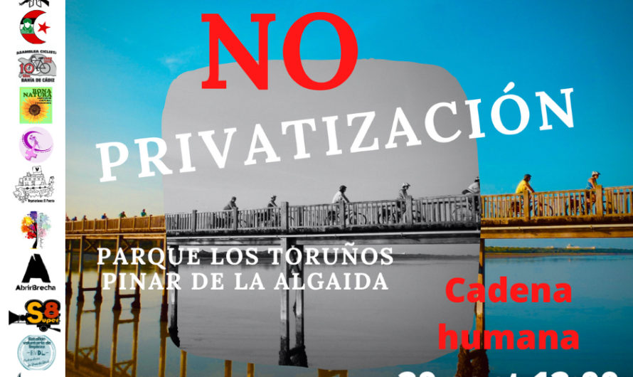 Próximo domingo: cadena humana contra la privatización de los Toruños y el Pinar de la Algaida
