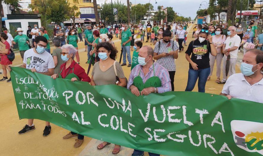 IU Sanlúcar apoya a la comunidad educativa en sus justas peticiones para una vuelta al cole segura