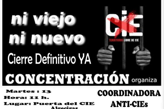 Una veintena de entidades sociales y sindicales se unen para expresar su oposición a la construcción del nuevo CIE de Algeciras