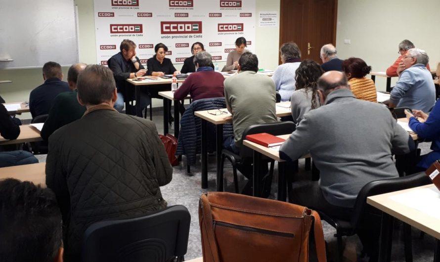 El Consejo Provincial de CCOO aprueba una resolución en demanda a la Algeciras-Bobadilla