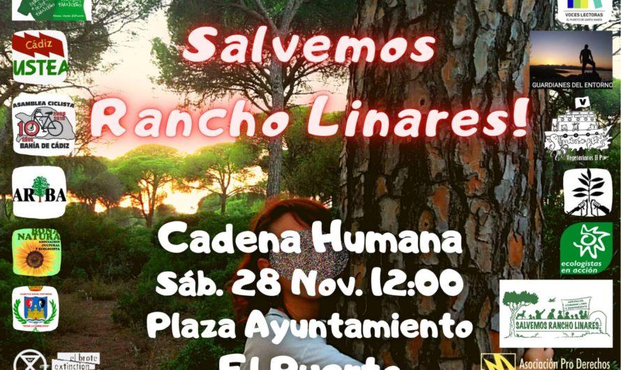 Sábado 28 de noviembre: cadena humana para salvar al Rancho Linares