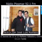 Acti-v con José Luís Romero Lunes a Jueves de 11 a 12 Mañana Sábados y Domíngos 11 a 1 Tarde
